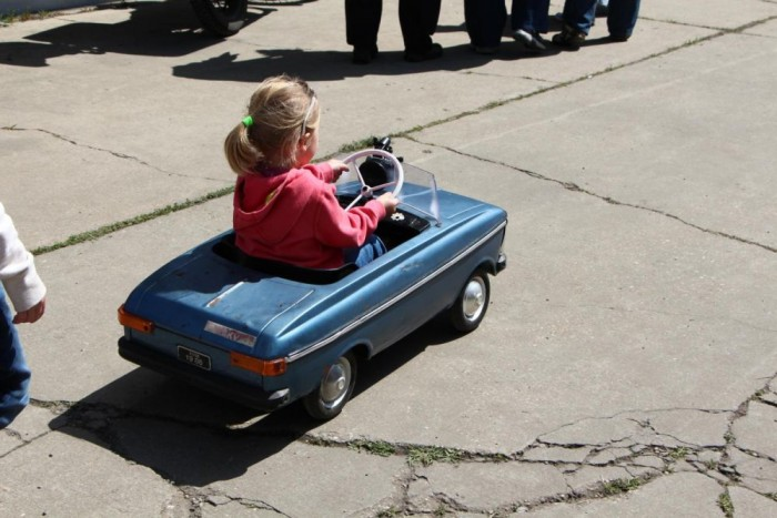 A kiállítás legkisebb járműve a pedálos Moszkvics volt