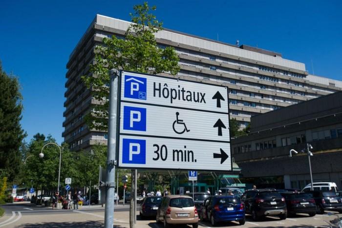 A lausanne-i kórház, itt zajlik a rehabilitáció Fotó: Europress