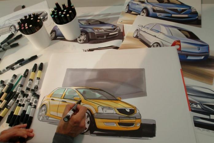 2003 Készülnek a Logan első vázlatai a Renault formatervező stúdiójában. A francia márka ekkor már 99,3 %-os tulajdonos a Daciában.