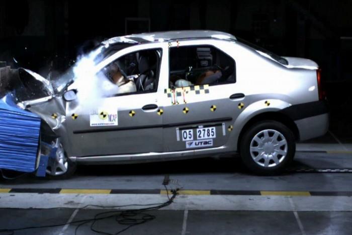 2005 Az EuroNCAP töréstesztre küldi a Logant. Háromcsillagos utasvédelem, egycsillagos gyalogosvédelem a mérleg