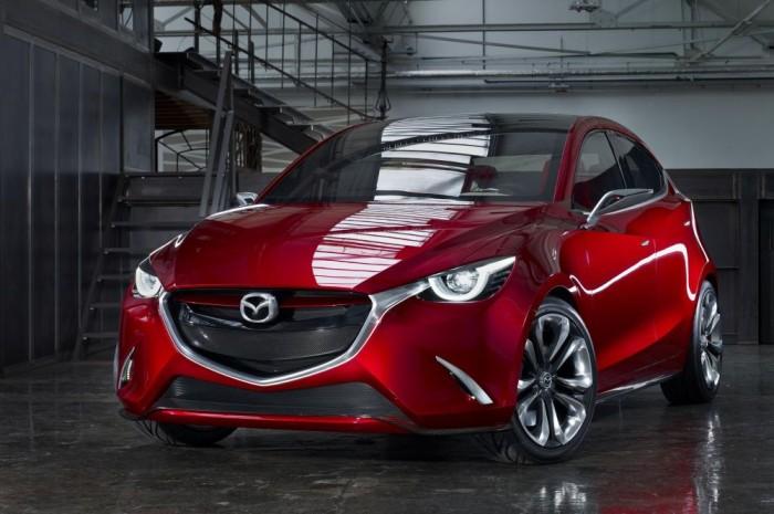 A Kodo irányzat legújabb tagja a Mazda2 koncepciója, a városi kisautó Hazumi