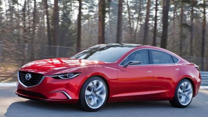 A Takeri tanulmány tekinthető a Mazda6 előfutárának, ebben a tanulmányban láthattuk először, milyen stílusjegyek kerülnek át a közútra a Kodo formanyelvből