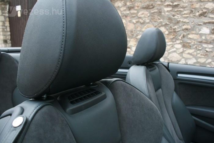 Kitolható a kabriós időszak az ülésekbe épített szellőzőkkel, amelyeken át meleg levegő fújható az elől ülők nyakára