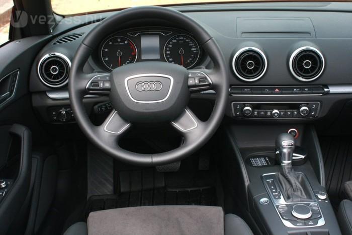 Hibátlan az ergonómia az Audi A3-asban