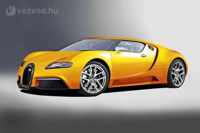 Állítólag külsőleg a jelenlegi modell továbbfejlesztése lesz az új Bugatti