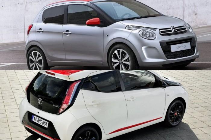 Négy autó a tizedik helyen - illetve csak kettő, mert a Peugeot 108, a Toyota Aygo és a Citroën C1 ugyanaz az autó. Egyliteres, változó szelepvezérlésű, 68 lovas motorral 88 g/km CO2-kibocsátásra és 70 dB(A) zajszintre képes, összpontszáma 7,38 pont.