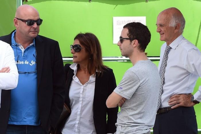 Bianchi szülei, menedzsere, Nicolas Todt és Gerard Saillant professzor