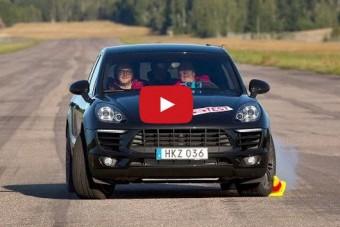 Nem borult, mégis bukott: Porsche Macan jávorszarvas-teszt