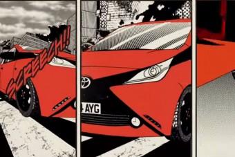 Manga rajzfilmhős a Toyota Aygo