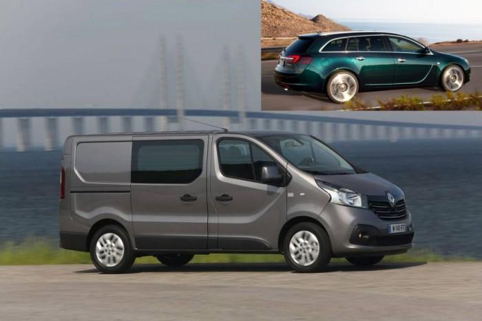 Érdekes, hogy az Opelek jellegzetes oldalsó díszét kapták a testvérmodellek, így a Renault Trafic is