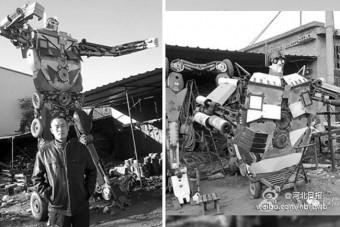Másfél tonnás Transformert épített a fiának
