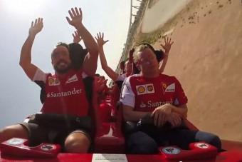 Räikkönen a világ legdurvább hullámvasútját is unta