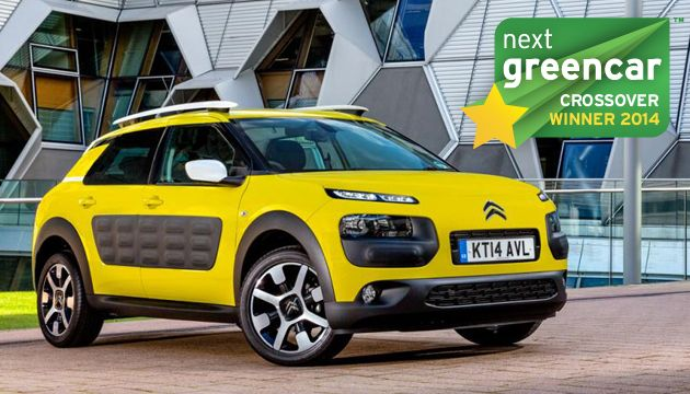 A legjobb crossover modell: Citroën C4 Cactus 1.6 BlueHDi; 87 g/km CO2 (Kia Soul EV; 0 g/km CO2)