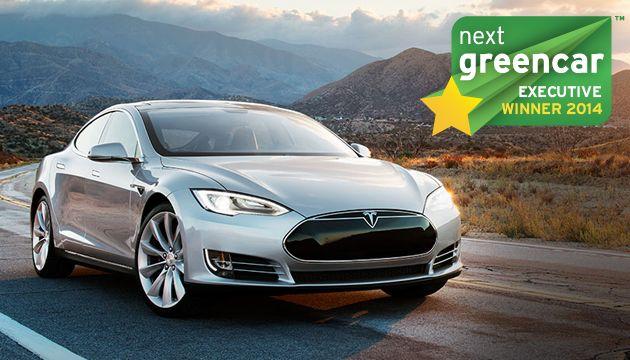 A legjobb prémium nagyautó: Tesla Model S; 0 g/km CO2 (Mercedes-Benz C-osztály C300 BlueTEC Hybrid; 94 g/km CO2)