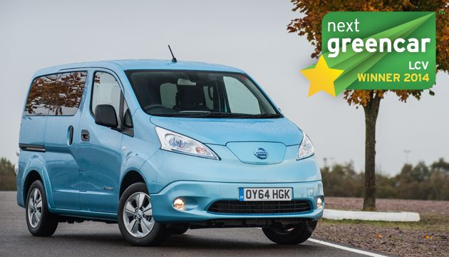 A legjobb kishaszonjármű; Nissan e-NV200 Combi; 0 g/km CO2 (Ford Transit Courier Kombi; 103 g/km CO2)