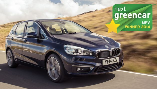 A legjobb egyterű: BMW 2-es Active Tourer 216d; 99 g/km CO2 (Volkswagen Golf SportsVan 1.6 TDI BlueMotion; 95 g/km CO2)