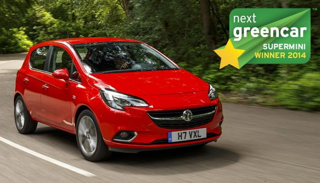 A legjobb kisautó: Vauxhall / Opel Corsa 1.0 Ecotec; 100 g/km CO2 (Mini ötajtós, 1.5 Cooper D; 95 g/km CO2)