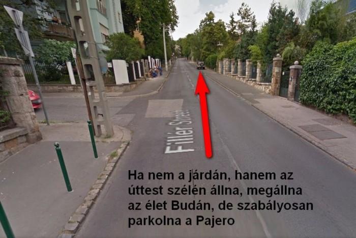 Megállni tilos tábla nincs, elvileg parkolhatna az úttesten