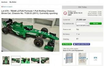 F1: Elárverezik a Caterham maradékát