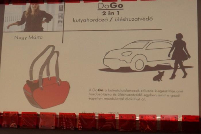 Kutyahordozó táska, a Fiat 500X-hez igazítva - az ötletből egy prototípus biztosan elkészül, hogy világpiaci árucikk is lesz-e belőle, még nem tudni