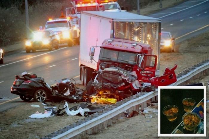 Ezt a fotót töltötték fel az internetre az éjszaka folyamán, állítólag mégsem volt ittas a sofőr