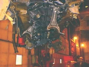 Így néz ki egy bányagép 78 literes motorja, szétrobbanva