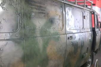 Ukrajnában pénzérmével gyógyítják a golyó ütötte lyukakat