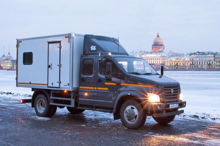 A GAZon Next City személyszállítós kivitele, mely ideális műhelykocsi is lehet akár