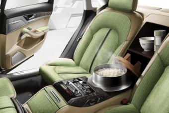 Ebédet főz az Audi A8