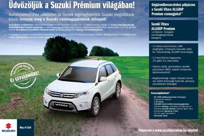 A Suzuki annyira gyorsan reagált a pályázatra, hogy még témaspecifikus kreatív marketinganyagot is volt ideje terveztetni valahogy