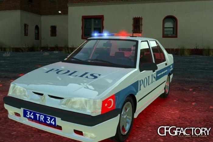 Ikonikus helyi rendőrautó, Renault 19, GTA-stílusban a CFG Factorytól