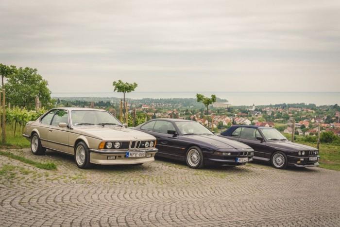 Akkor balról jobbra: M635 CSi, 850Ci és E30 M3 Cabrio. Anyám csuklik? Semmi gond, bírja.