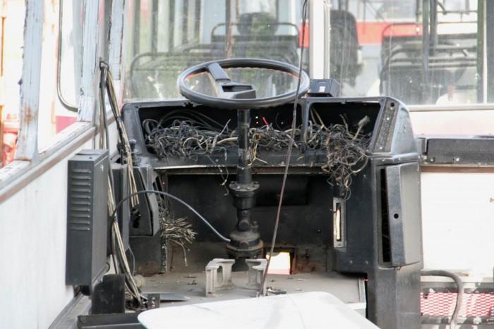 Így pedig a buszsofőr egykori helye a kannibálok támadása után