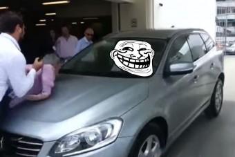 Így gázolt embert az önjáró Volvo