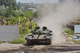 Így javítják Ukrajnában a tankokat