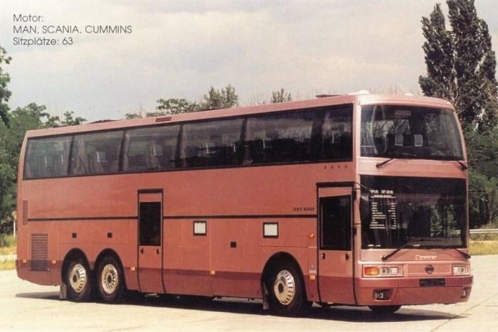 """A 397-es alsó szintén csak egy kisebb klubhelység volt, ezért az autóbuszt """"másfél emeletes"""" busznak nevezték."""