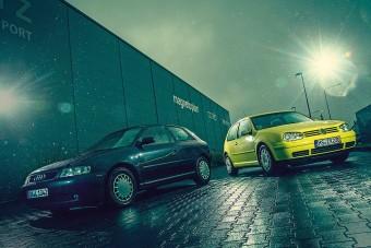 Csak féltestvérek: Audi A3 és Volkswagen Golf IV