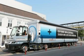 Takarékos gumikon fut a BMW elektromos kamionja