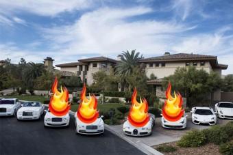 Felgyújtották Mayweather luxusautóit - 630 millió forintos kár