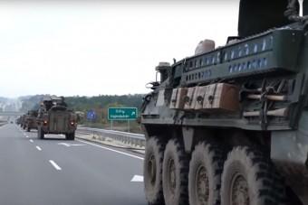 Masszív amerikai haderő vonult át az országon - Videóra vették