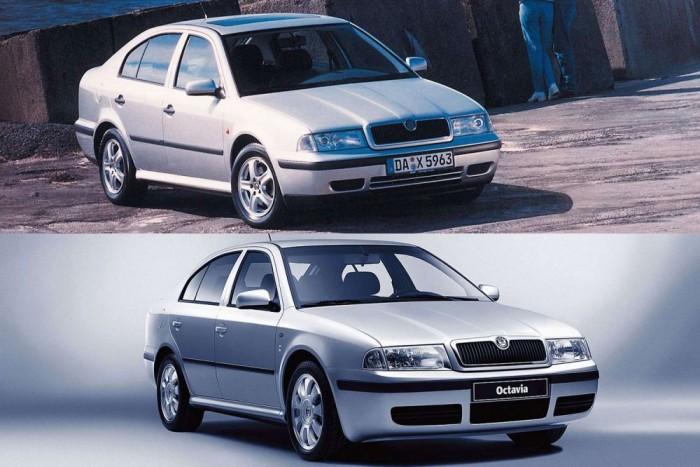 Jobban kiáll a 2001-es modellfrissítés előtti autók hűtőmaszkja, a fényszóró nem ívelt, mint a lenti autón. Eltérő a lökhárító is