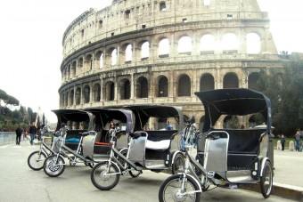 Kitiltották a pedálos taxikat Rómából