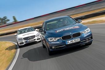 Összehasonlító teszt: BMW 340i és Mercedes-Benz C 400 4Matic