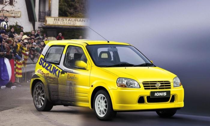 Szuper-1600-as raliautó készült az Ignis Sportból, a 2003-tól gyártott utcai modell fizimiskájával
