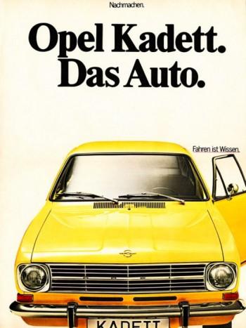 Ugyanezt a szlogent használta az Opel, a Kadett hirdetéseiben jelent meg az üzenet, de több évtizeddel azelőtt, hogy a VW reciklálta