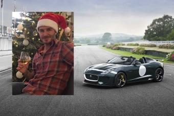 David Beckhamnek csodás Jaguart hozott a Jézuska