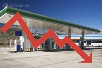 Folytatódik az áresés a hazai benzinkutakon