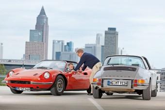 Összehasonlító teszt: Ferrari Dino 246 GTS és Porsche 911 S Targa