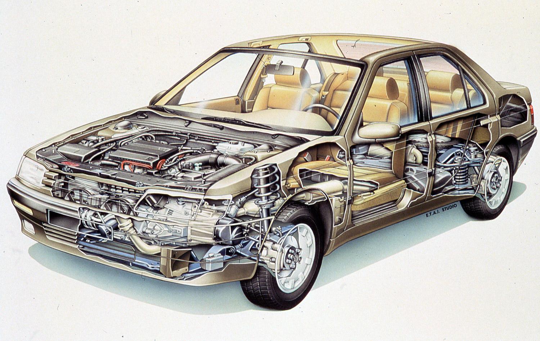 Peugeot 605 SV, 3 literes motorral. Igazán szép rajz.