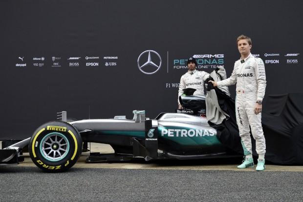 Mercedes W07, Hamilton, Rosberg
